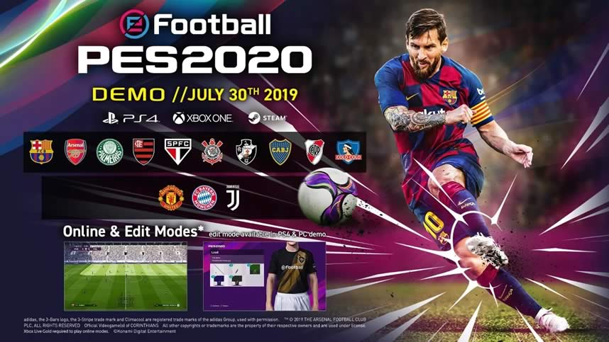 baixar-Pes 2020 demo-download
